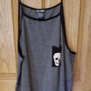 Striped skull pocket tank